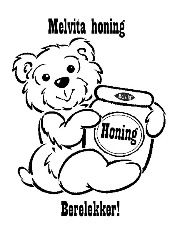 kleurplaten wedstrijd melvita honing
